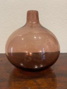 Шаровая ваза из выдувного стекла. Мануфактура Сегусо. Мурано.