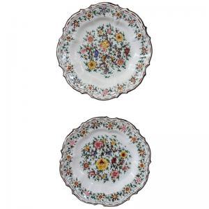 Coppia di piatti in ceramica artistica manifattura C.A.M. Gubbio 1940 circa PREZZO TRATTABILE