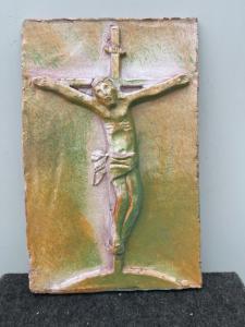 Плитка майолика с изображением Христа на кресте Фаэнца