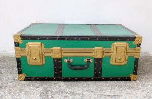 Baule - valigia anni 50 di colore verde
