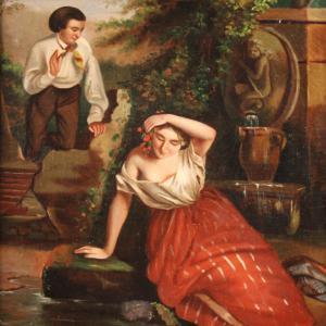 Piccolo quadro romantico del XIX secolo