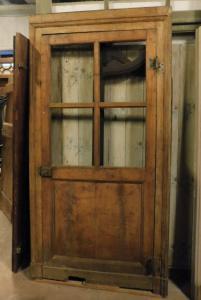 pti650 - Glastür mit Rahmen, 18. Jahrhundert, max. Größe cm l 116 xh 228