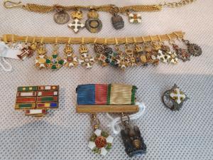 Serie di miniature in oro di Stati Europei