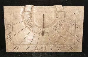 Particolare meridiana in marmo d'Istria - Sine Sole Sileo - Marmo d'Istria - fine 19° secolo