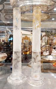 Coppia di vasi in cristallo Boemia 1880