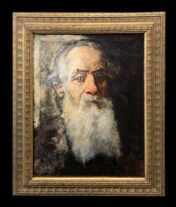 Matteo Lovatti (1861-1927) - Ritratto di vecchio