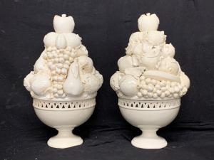 Pair of ceramic triumphs