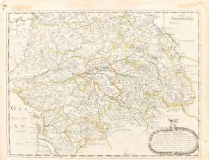"""""""Governement general d'Orleans"""" - Engraved map of Nicolas Sanson"""