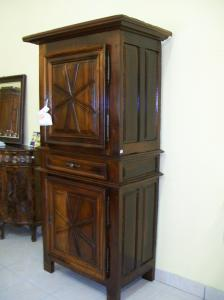 Stipo, Period cabinet 700 in solid walnut 111lx216hx60p