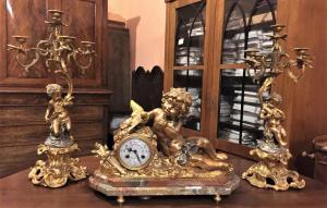 Trittico in bronzo dorato epoca Napoleone III