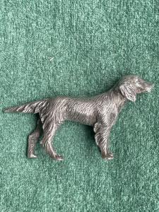 Маленькая собачка в серебре Франция.