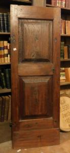 pts258 n. 3 doors in seventeenth-century walnut, mis. 72 x 200 x 4 cm thick