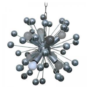 sputnik chandelier italian design in chromed metal 80s PRICE NEGOTIABLE