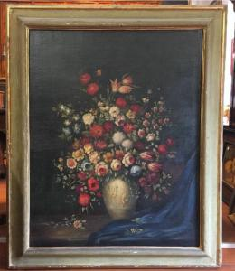 Ancient painted still life 18th century