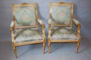 golden armchairs