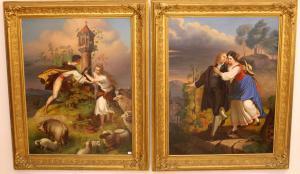Coppia di quadri raffiguranti