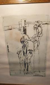Литография осаждения Христа