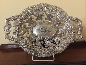 Centro tavola in argento punzone Vienna
