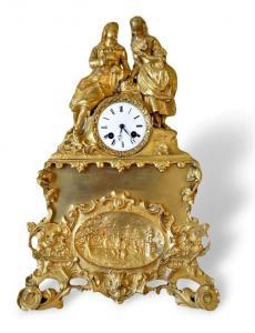 Pendola Francese in bronzo dorato 1840 c.