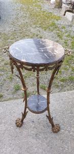 Tavolino Napoleone III in bronzo dorato