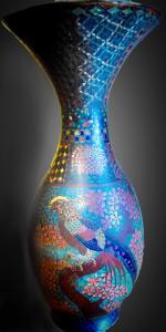 一对 19 世纪花瓶