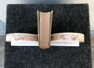 Pair of art-d'eco 'marble bookends.