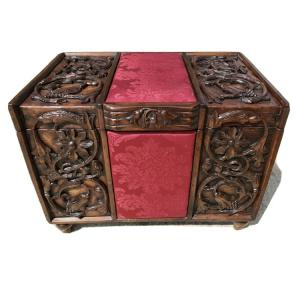 Ancient Carved Chest Chest.