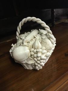 Ancient ceramic fruit basket