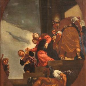 Antike venezianische Gemälde aus dem 17. Jahrhundert