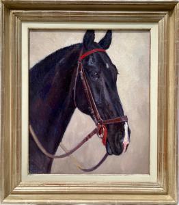 动物画《汉诺威黑马——黑马》赫尔穆特·巴赫拉赫·巴雷 (1898 - 1969)