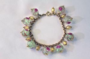 Green murrine bracelet