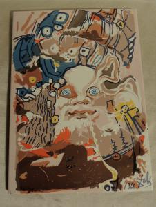 piastrella disegnata da Salvator Dalì  cm 22 x 29