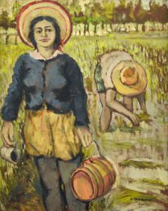 """""""Der Wasserträger"""" - Öl auf Leinwand von Domenicone Dedo, Öl auf Leinwand von Dedo"""