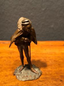 Small bronze statue depicting belzebu'.Austria.