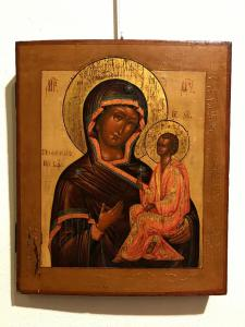 "Icon depicting ""Mother of God of Tichuin"" - lot 13"