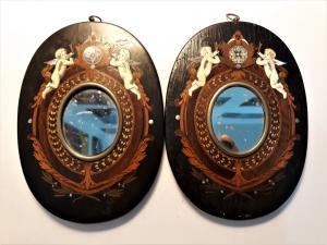 Coppia di specchierine ovali