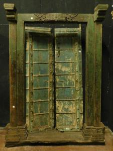 ptcr428 - porta étnica com moldura, tamanho max cm 142 xh 215