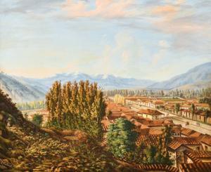 """ Paesaggio""-乔瓦·巴蒂斯塔·莫利内利(Giovan Battista Molinelli)的纸板上油,乔瓦·巴蒂斯塔·莫利内利(Giovan Battista Molinelli)的纸板上油"