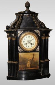Orologio Italiano con piccolo dipinto del 1800
