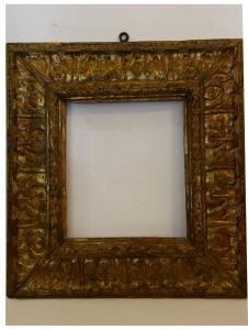 Ancient carved and gilded frame from the 1500s