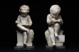 Coppia sculture di R.J. WYATT
