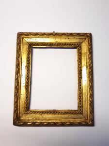 Carved and gilded wood frame