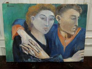 Quadro a Olio su tela -pittore  BLANC