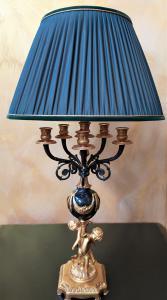 Lampada da tavolo Stile Impero -bagno oro 24kt- Italia XX sec.