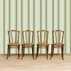 4 beech and Vienna straw chairs, 4 beech chairs with Vienna straw