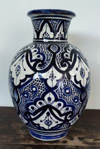 Vaso, ceramica artigianale umbra, integro, Anni 1950/60 - H cm 34,5