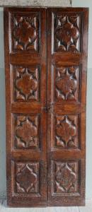 Beautiful walnut door with beautifully carved panels