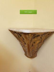 coppa dorata angolare legno