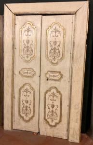 pts686 - paar neapolitanische türen, cm l 138 x h 220