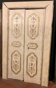 pts686 - par de portas napolitanas, cm l 138 xh 220